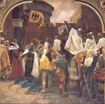 Hertog Konrad I nodigt Teutoonse Orde uit