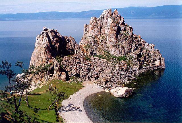 Sjamanenrots op het eiland Olchon