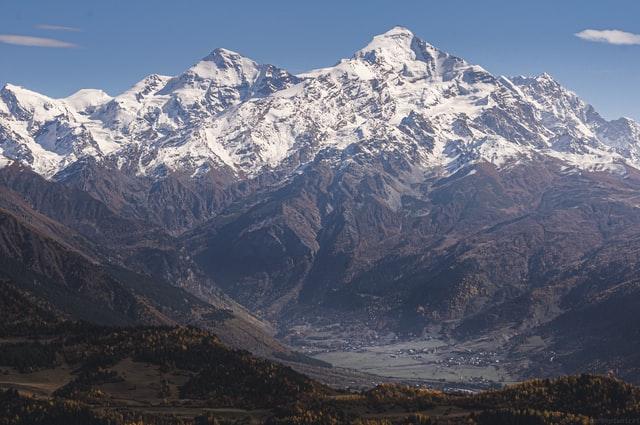 Het Kaukasus gebergte