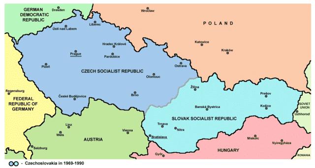 Opsplitsing Tsjecho-Slowakije