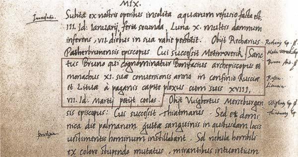 Eerste vermelding Litouwen