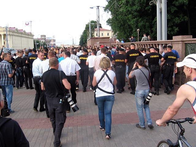 Protest tegen Loekasjenko
