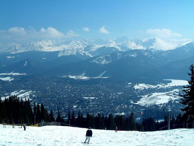 Zakopane aan de voet van de Hoge Tatra, Polen