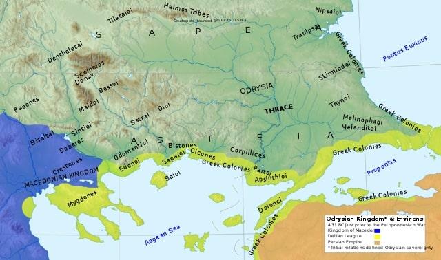 Thracië en het Odrysisch koninkrijk